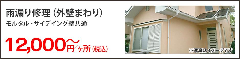 雨漏り修理(外壁まわり)