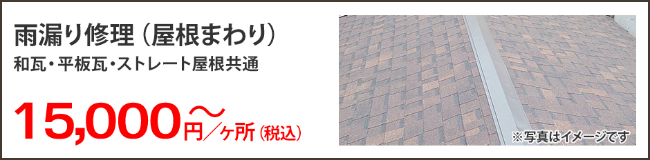 雨漏り修理(屋根まわり)